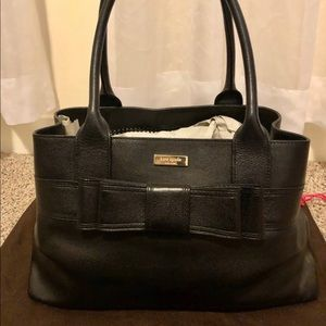 Kate Spade Quinn Villabella Black Leather Purse
